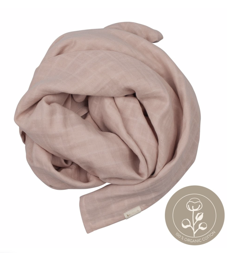 Fabelab - Mauve Extra Large 1.2m Multiuse Swaddle Wrap - 100% Organic Baby Swaddle