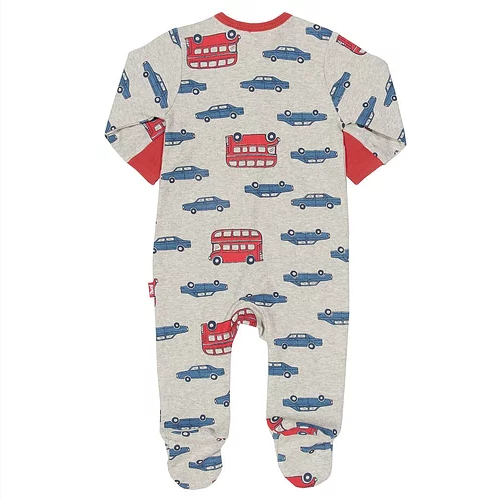 KITE Organic - Beep Beep Car & Bus Zip & Footed Baby Sleepsuit - Newborn/1 Month - Stylemykid.com