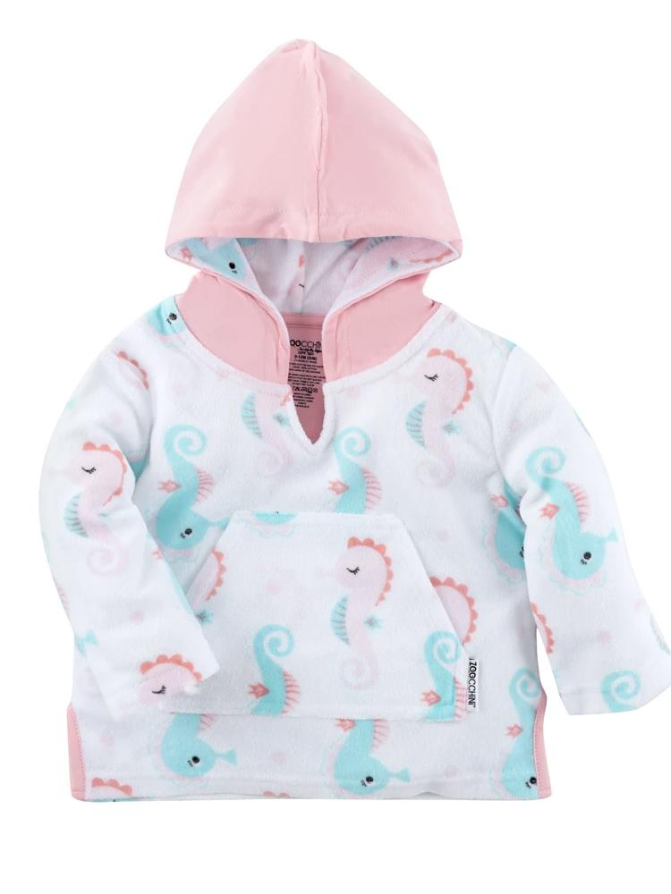 Zoocchini - Terry Bath & Swim Cover up with Character Hood - Sally the Seahorse - Stylemykid.com