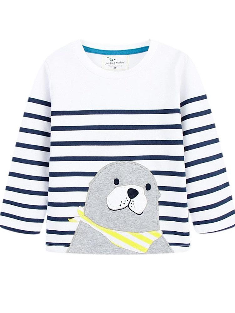 Seal Smiles Striped Long Sleeve Top Unisex - Stylemykid.com