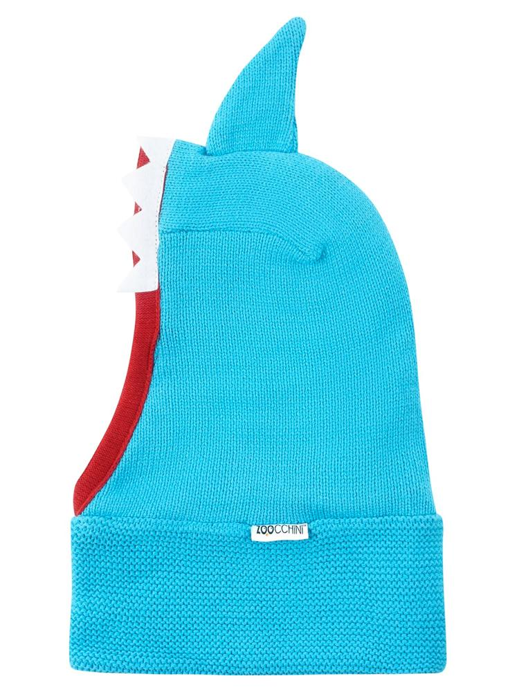 Zoocchini -  Kids Knit Balaclava Hat - Sherman The Shark - 1-2Y - Stylemykid.com