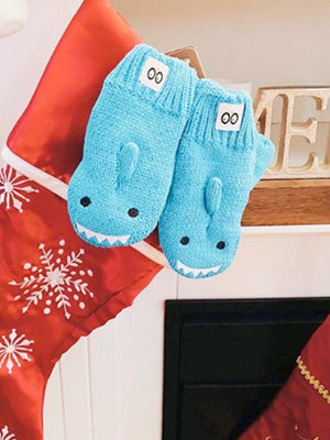 Zoocchini -  Kids Knit Mittens - Sherman The Shark - 1-2Y - Stylemykid.com