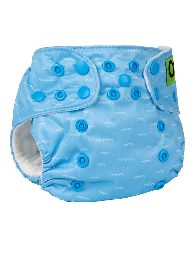 Zoocchini - Washable Reusable Cloth Pocket Nappy with 2 Inserts - Sherman the Shark - Stylemykid.com