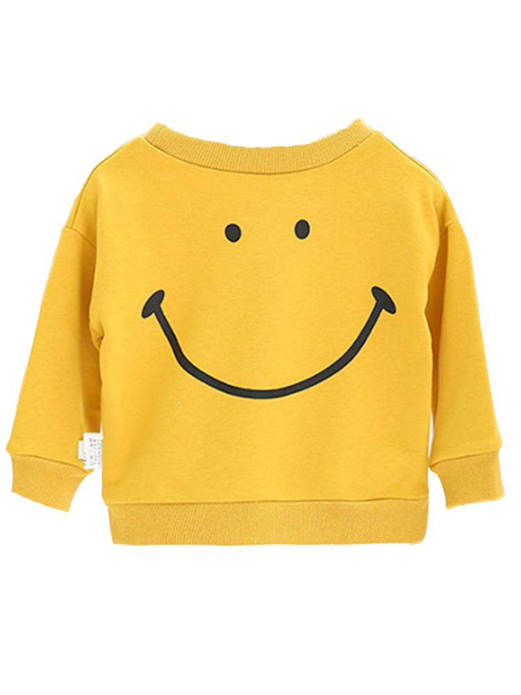 Smiley! - Boys/ Girls Yellow Sweatshirt Jumper - Stylemykid.com