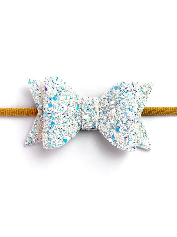 Baby Wisp - Courtney Bow Headband - Snow Glitter - Stylemykid.com