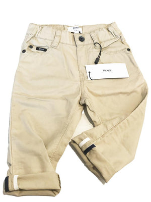 HUGO BOSS - Boys Soft Beige Chinos - Stylemykid.com