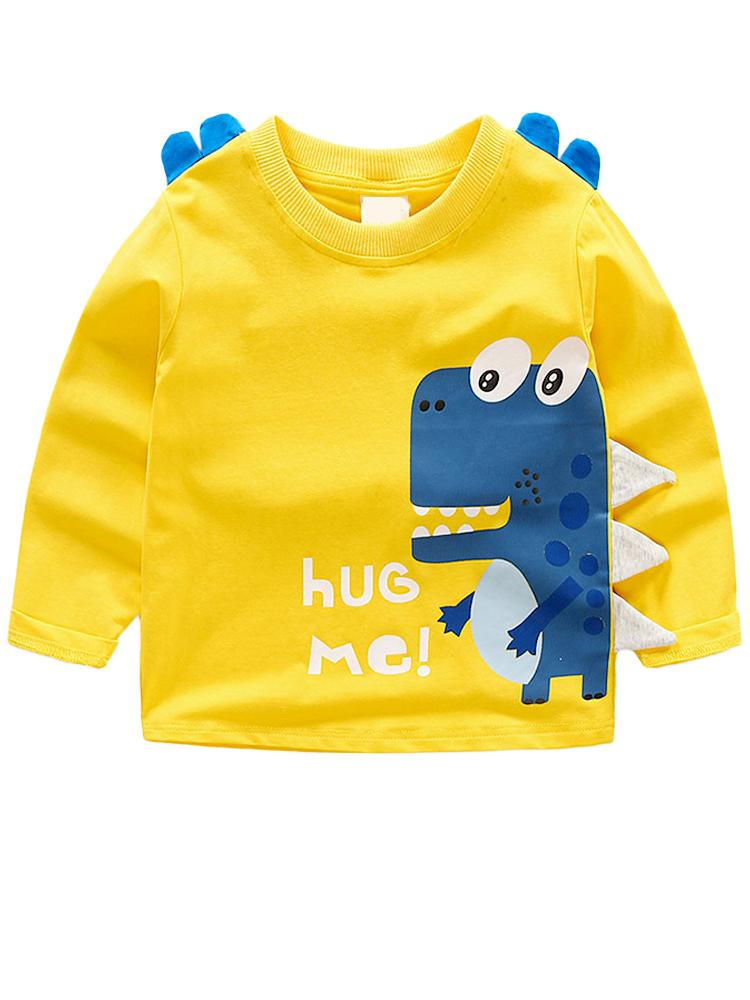 Spikes Out - Hug Me! Boys/ Girls Yellow & Blue Dinosaur Spikey Sweatshirt - Stylemykid.com