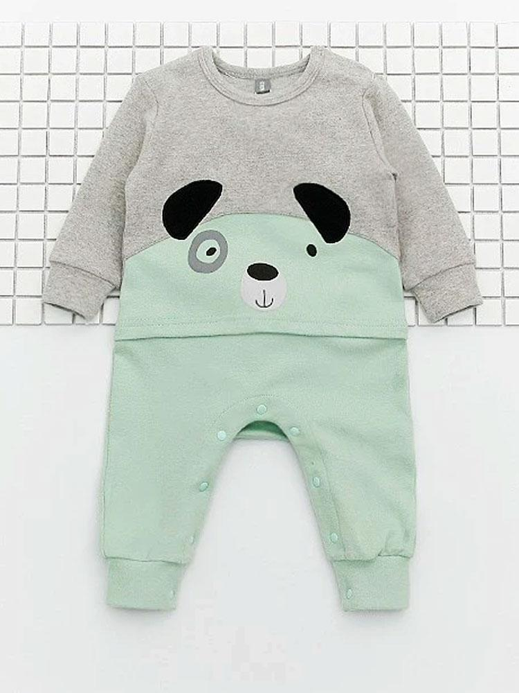 Spot the Bear - Green and Grey Onesie - Stylemykid.com