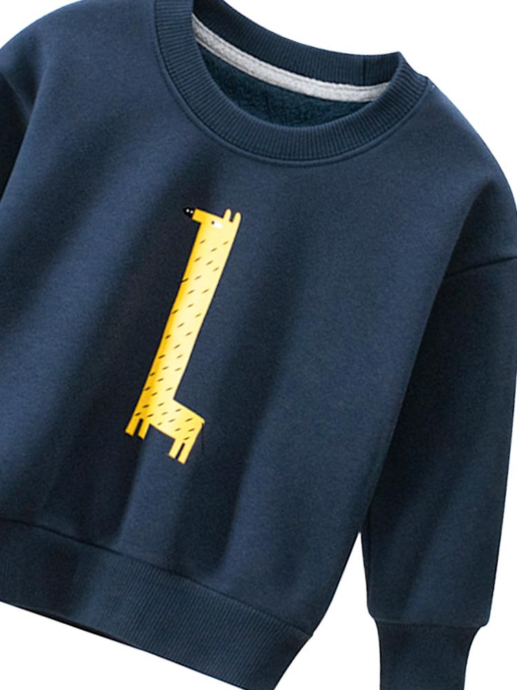 Spotty Giraffe - Boys/ Girls Navy Blue Sweatshirt - Stylemykid.com
