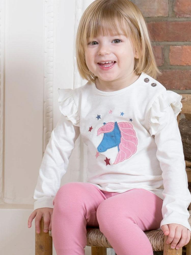 KITE Organic - Star Pony Long Sleeve Top from 3 to 18 months - Stylemykid.com