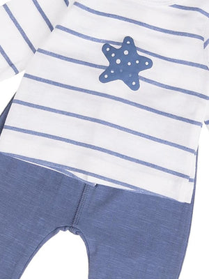 Babybol - Starfish and Stripes Baby 2 Piece Outfit - Stylemykid.com