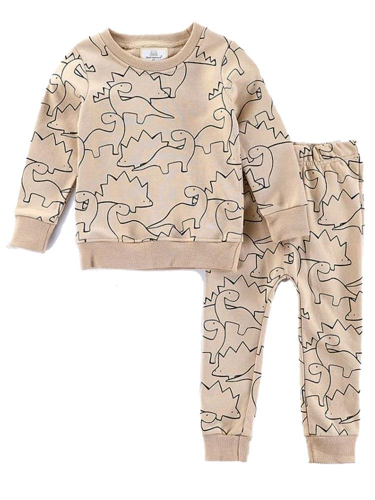 Stomping Dinosaur Tracksuit Top and Bottoms Set - Unisex 1 to 7 years - Stylemykid.com