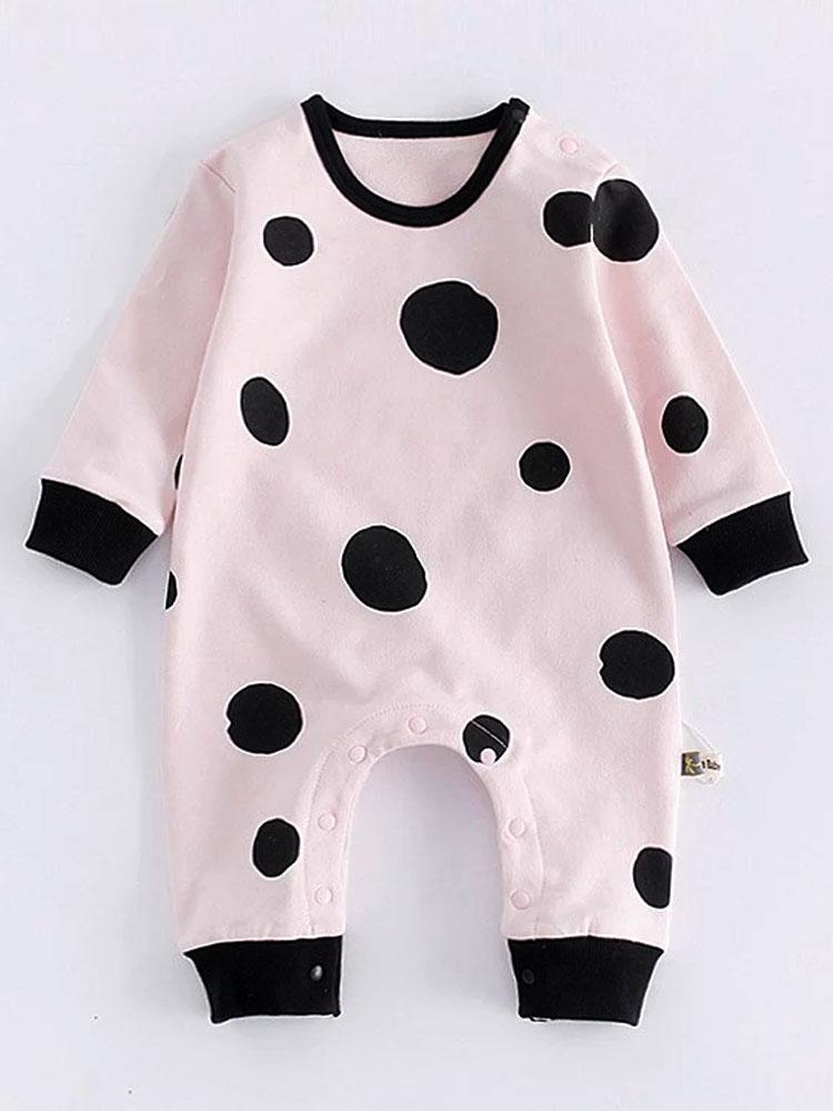Strawberry Choc Chip - Beautiful Pink Onesie with Black Spots - Stylemykid.com
