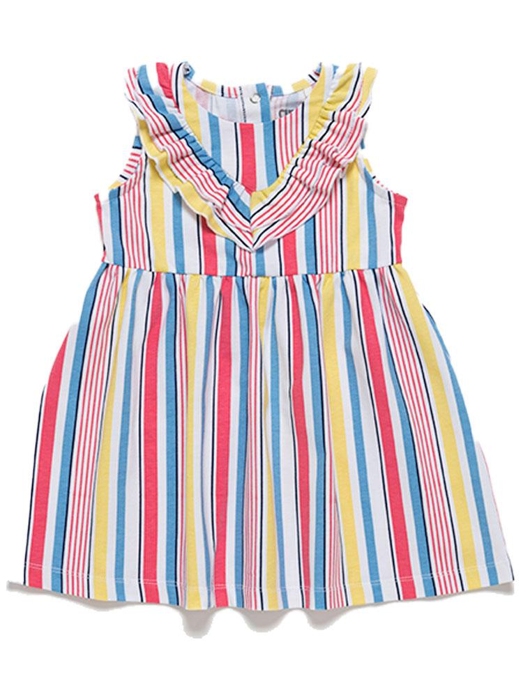 Artie - Pretty Girls Summer Striped Dress - Stylemykid.com