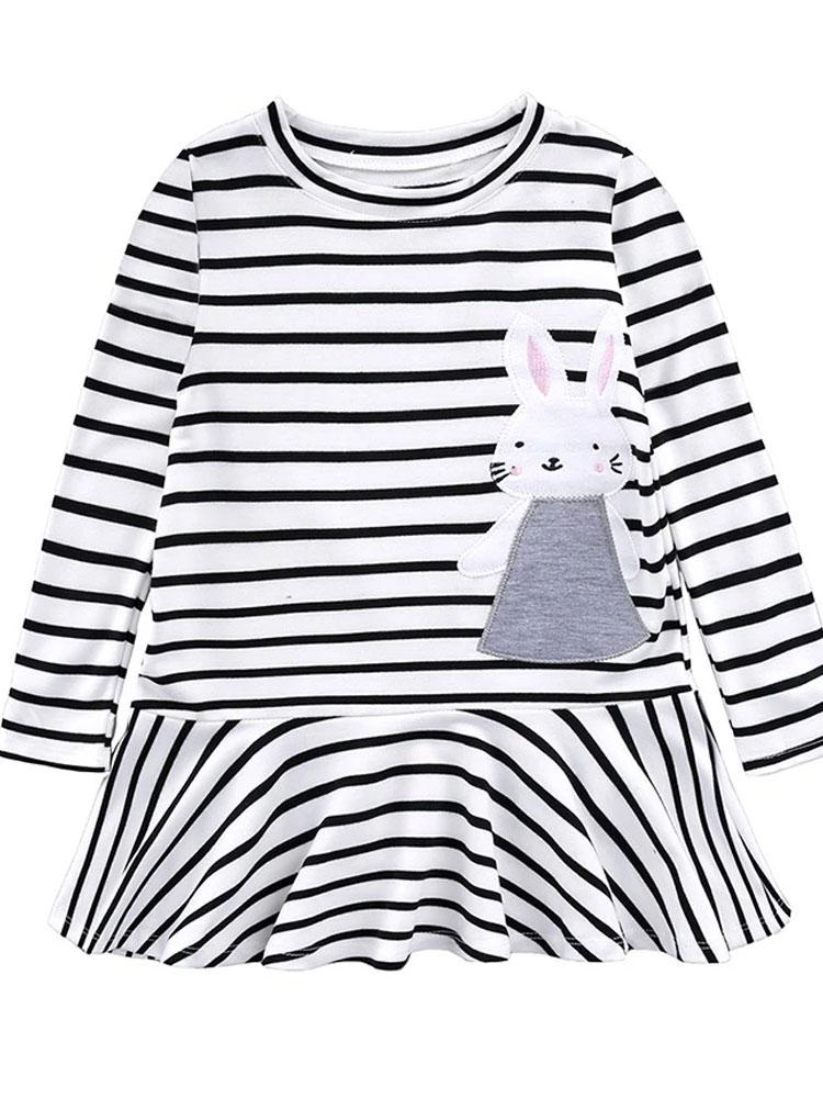 Stripey Bunny Dress - Stylemykid.com