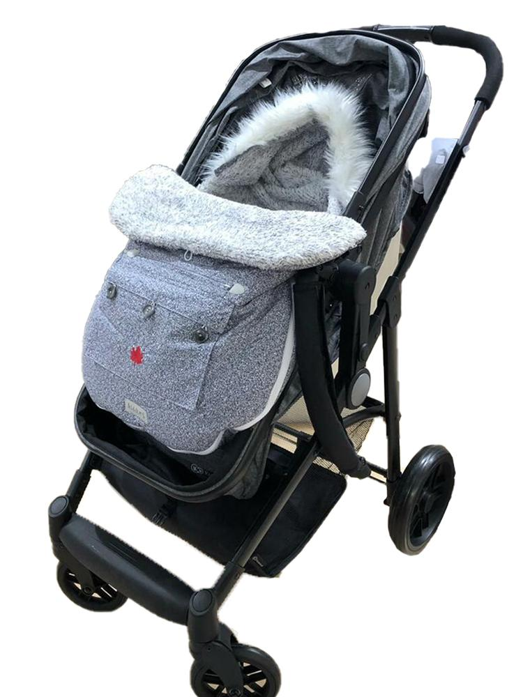 Juddlies - Infant Car Seat & Push Chair Bag  - Salt & Pepper Grey 0-12 Months - Stylemykid.com