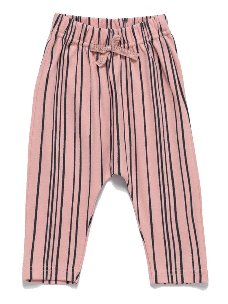 Artie - Super Stripey Baby Trousers - Pink & Navy Striped Trousers - Stylemykid.com