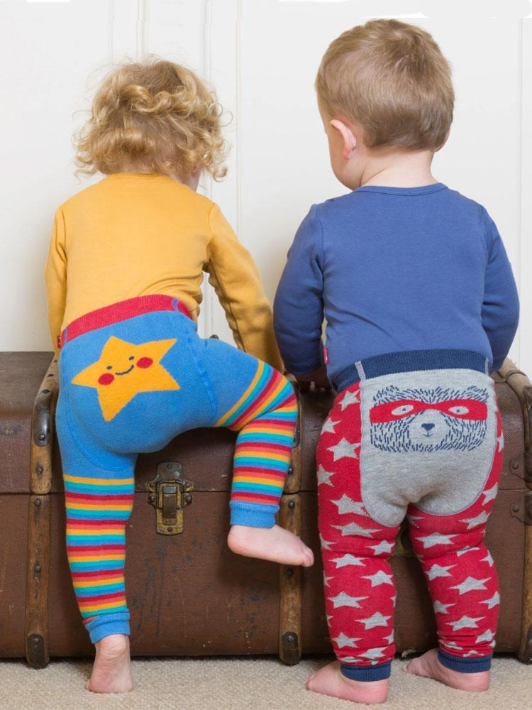 Super Teddy Organic Knitted Leggings - 0 to 12 months - Stylemykid.com