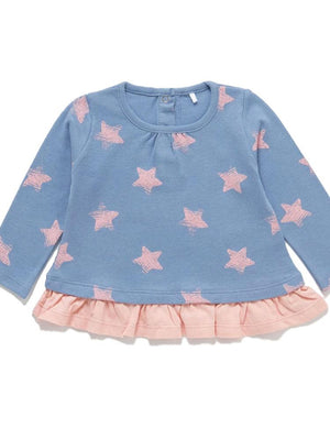 Artie - Super Star Jumper - Pink and Blue Girls Jumper - Stylemykid.com