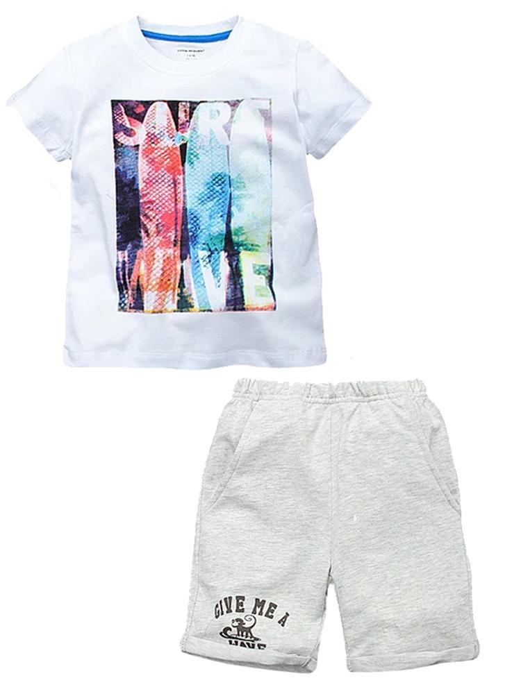 Surfer Dude Set - Boys T-Shirt and Shorts Outfit - Stylemykid.com