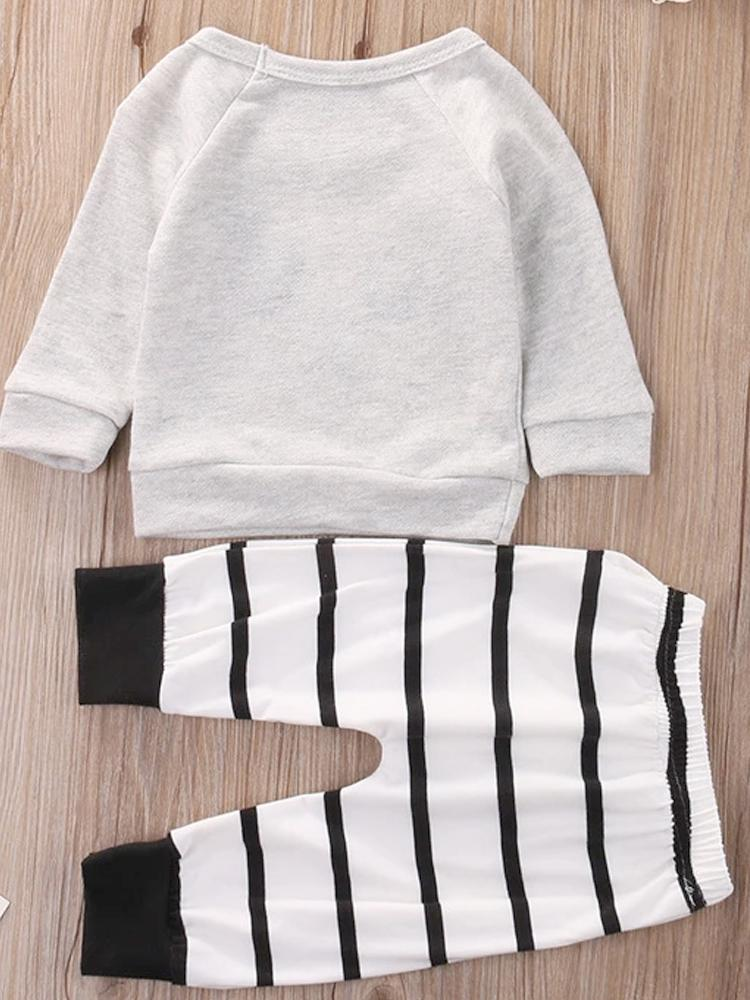 Sweet Little Panda Black and White Unisex top and bottoms set - Stylemykid.com