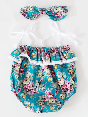 Sweetest Vintage Floral Romper - Stylemykid.com