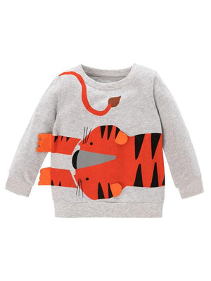 Boys Tiger Sweatshirt with Stand Out Tiger Ears & Feet - Stylemykid.com