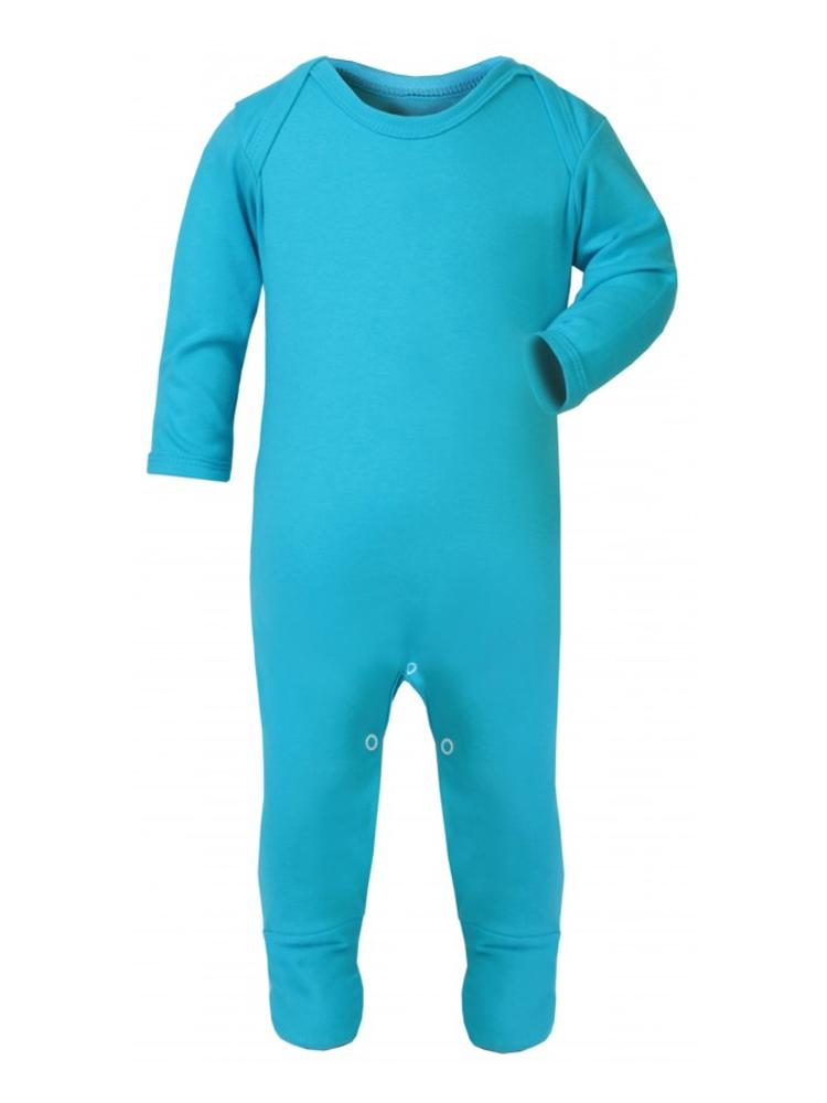 Turquoise Blue Footed Rompersuit - Size 6-12M - Stylemykid.com