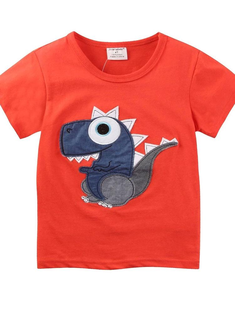 Vibrant Mr Dino - Orange T-Shirt - Stylemykid.com