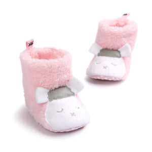 Lamb Cuddles - Pink Slippers with 3D Ears - Stylemykid.com
