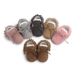 Winter Moccasin - Rose Brown - Stylemykid.com