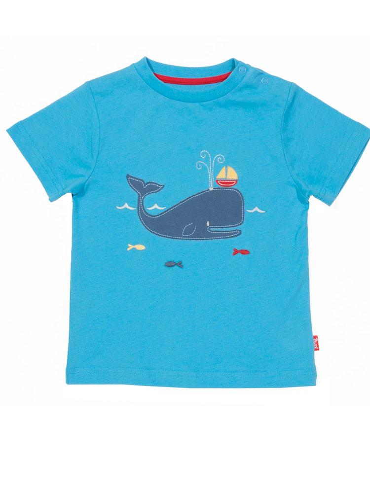 KITE Organic - Whale of a Time Blue T-Shirt from 0-3 months - Stylemykid.com