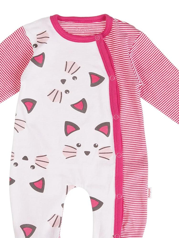 Babybol - Stripy Cats Whiskers Baby Sleepsuit - Stylemykid.com