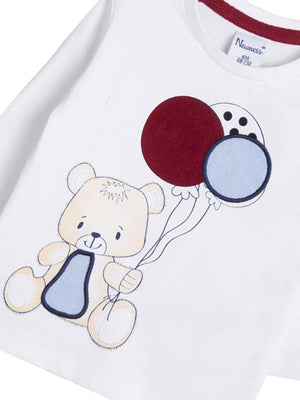 White Bear Balloon Long Sleeve Top - Unisex 0 to 24 months - Stylemykid.com