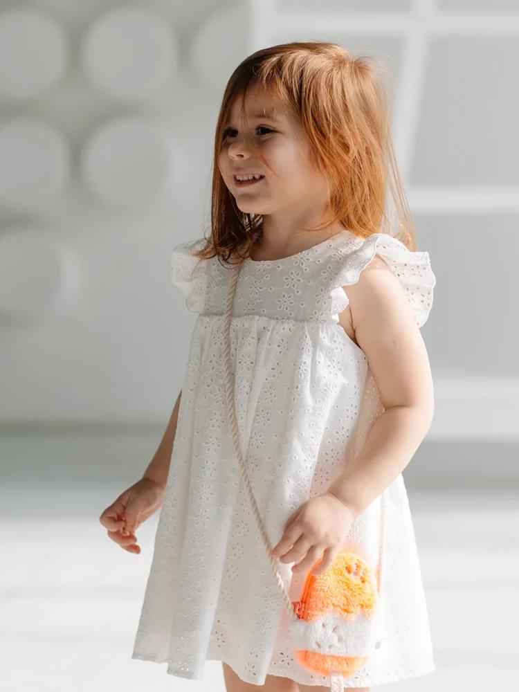 Artie - White Broderie Anglaise Lacy Girls Party Dress - Stylemykid.com