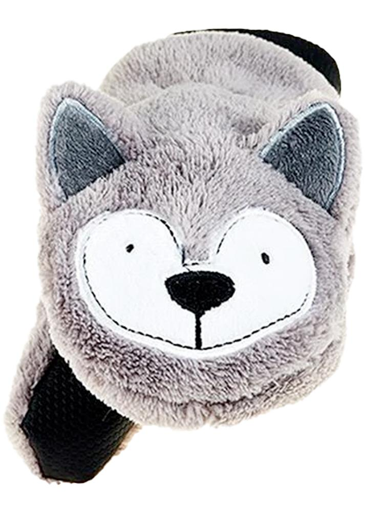 Flapjack Kids - Winter Fleece Mittens/Gloves - Wolf - Stylemykid.com