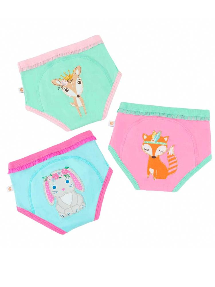 Zoocchini - Girls Woodland Princesses Potty Training Pants 3 pack - Stylemykid.com