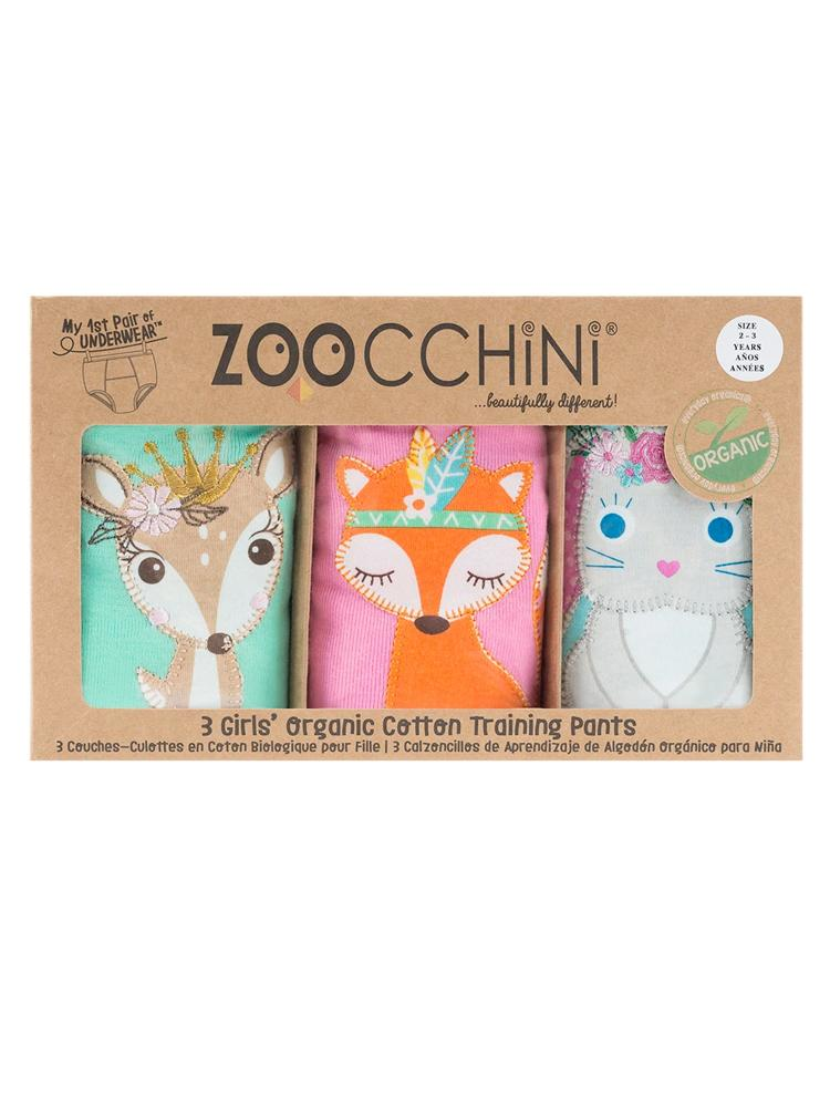 Zoocchini - 100% Organic Cotton Girls Potty Training Pants (3 pack) - Woodland Princess - Stylemykid.com