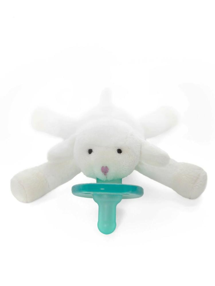 WubbaNub - Little Lamb Dummy Comforter with Toy - Stylemykid.com