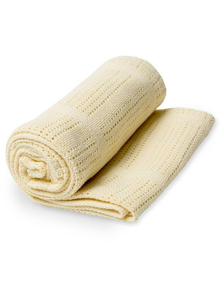 Lulujo - Yellow Cellular Baby Blanket - 100% Cotton - Stylemykid.com