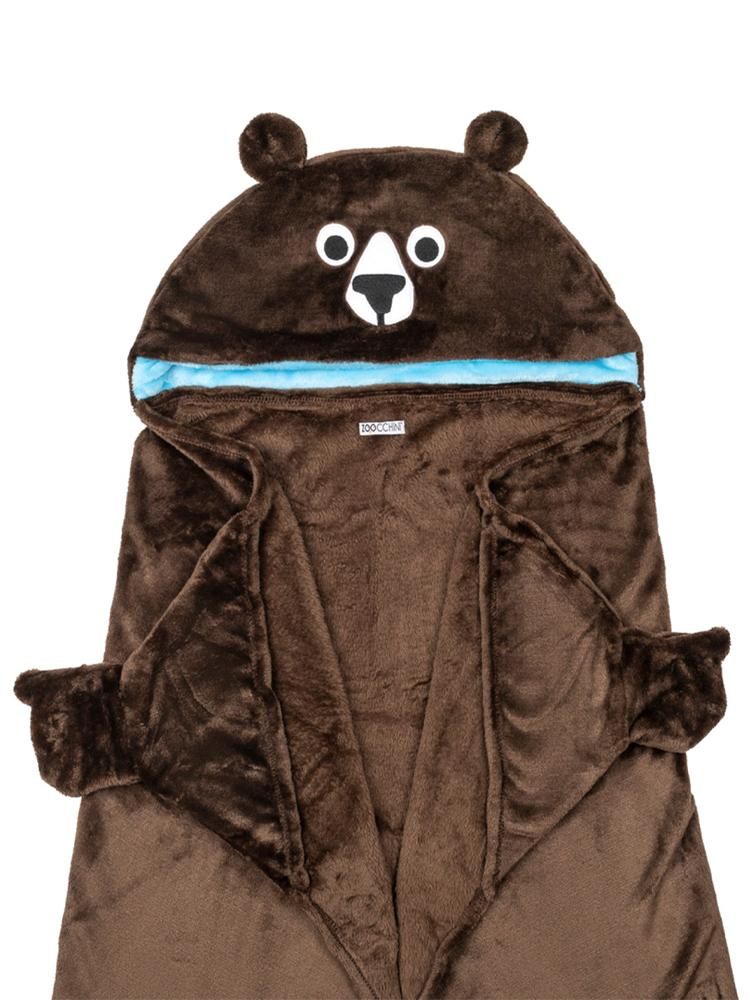Zoocchini - Kids Wearable Hooded Blanket - Bear - Age 3+ - Stylemykid.com