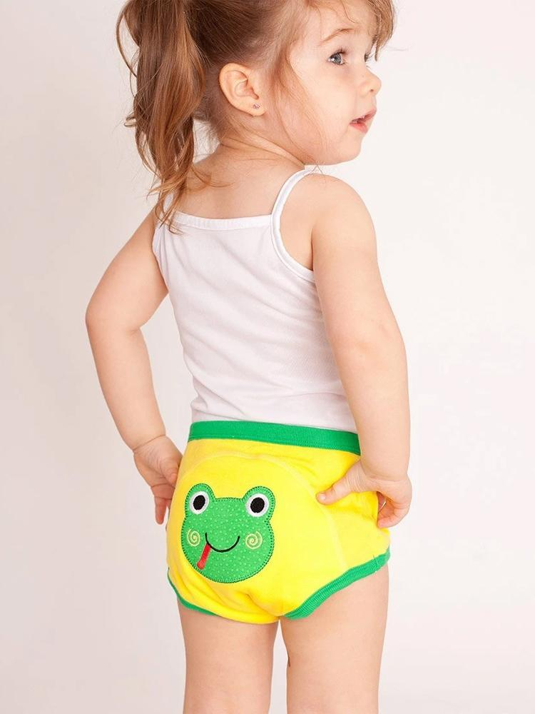 Zoocchini - 100% Organic Cotton Girls & Boys Potty Training Pants (single pack) - Flippy the Frog - Stylemykid.com