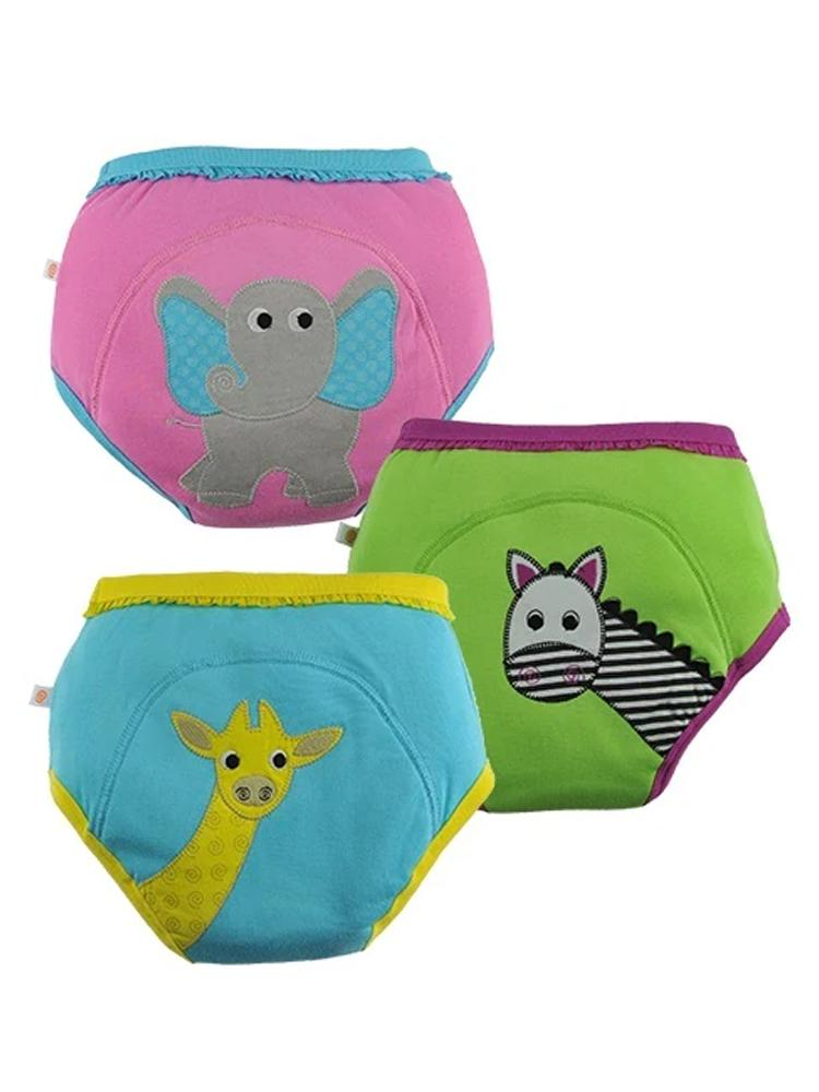 Zoocchini - 100% Organic Cotton Girls Potty Training Pants (3 pack) - Safari Friends - Elephant/Zebra/Giraffe - Stylemykid.com