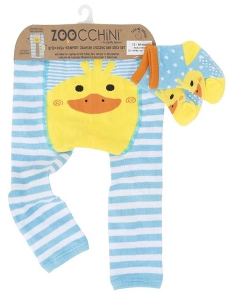 Zoocchini - Baby Legging & Socks Set - Grip+Easy™ Comfort Crawlers - Puddles the Duck - Stylemykid.com