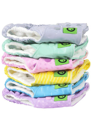 Zoocchini - Washable Reusable Cloth Pocket Nappy Inserts - 2 Pack - Stylemykid.com