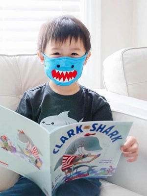 Zoocchini - Reusable Organic Kids Face Masks - 3 Pack - Sherman the Shark