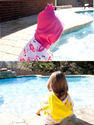 Zoocchini - Terry Bath & Swim Cover up with Character Hood - Puddles the Duck