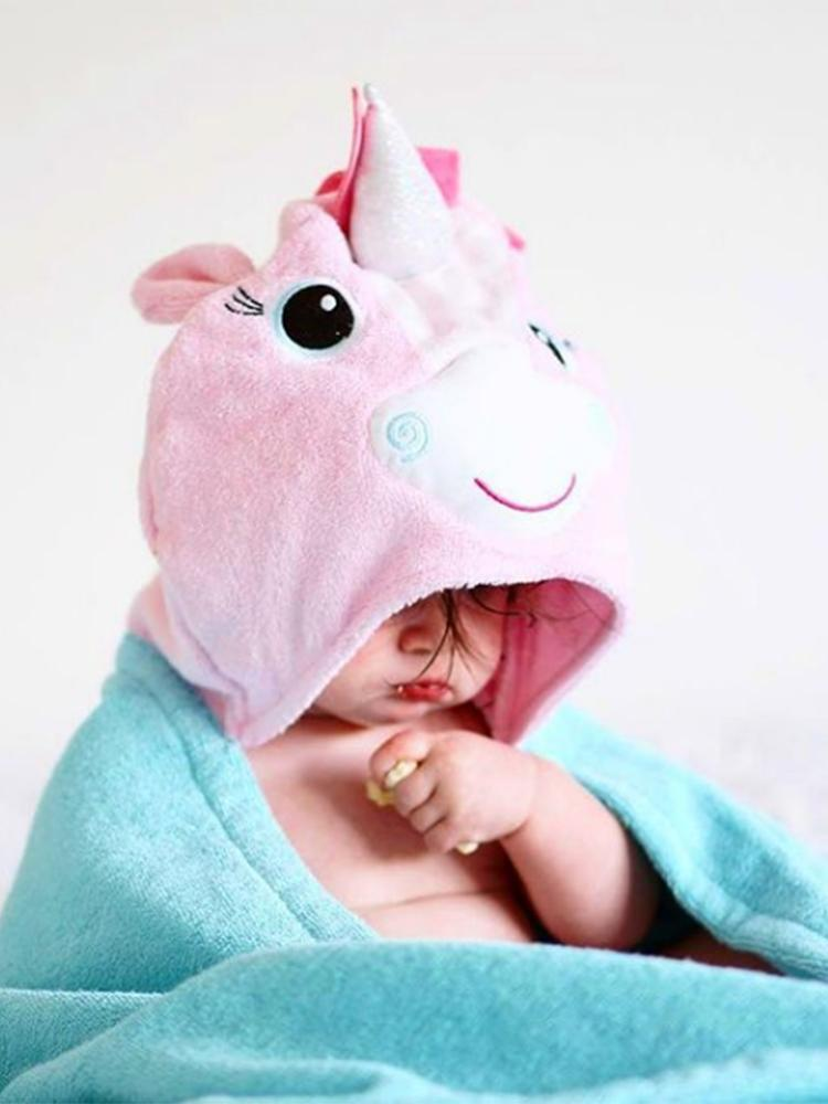 Zoocchini - Animal Cotton Kids Hooded Towel - Allie the Alicorn - 2 Years + - Stylemykid.com