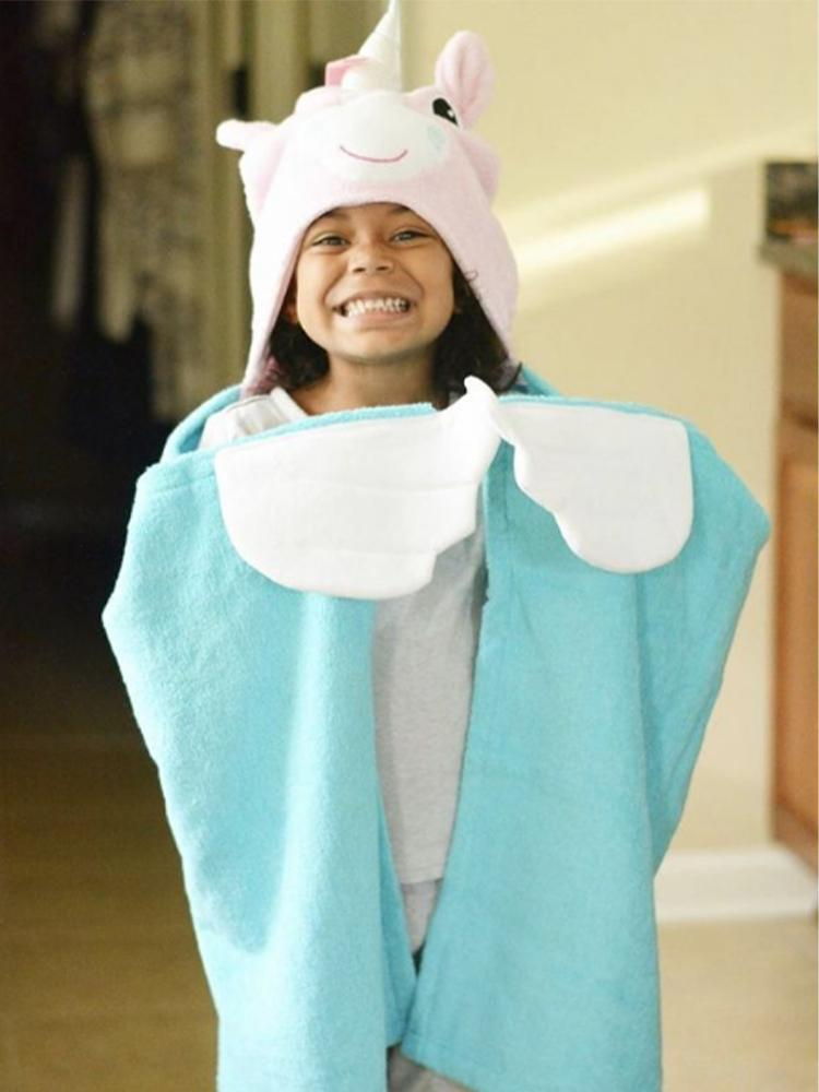 Zoocchini - Animal Cotton Kids Hooded Towel - Allie the Alicorn