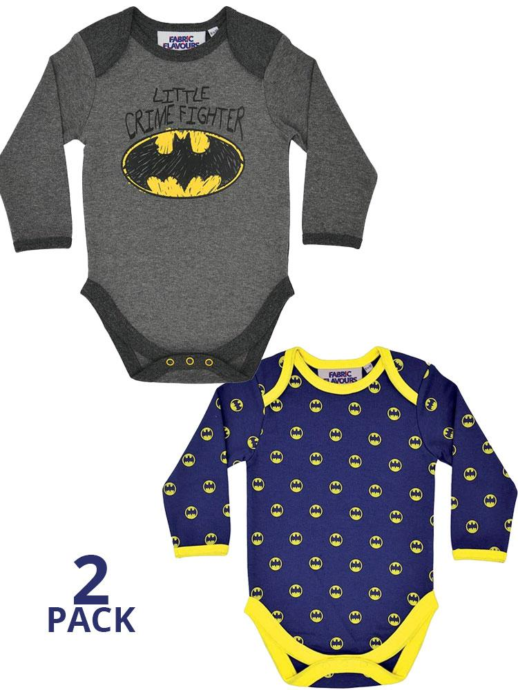 Batman Baby Grow 2 Pack - Little Crime Fighter and Batman Signal Logo